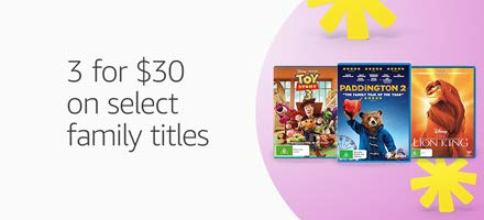3 for $30 on select family titles