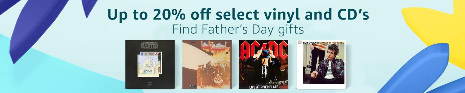 Up to 20% off select vinyl and CD's for Father's Day