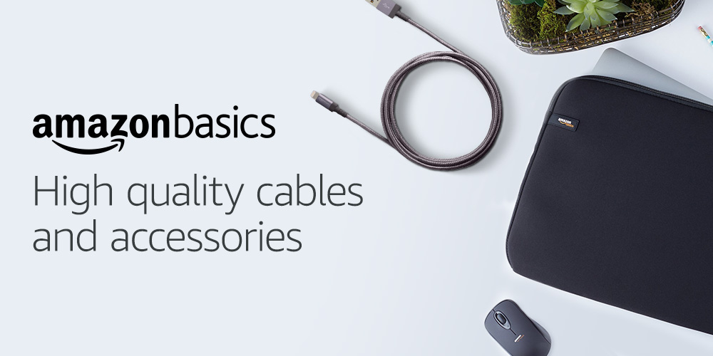 High quality cables and accessories from AmazonBasics