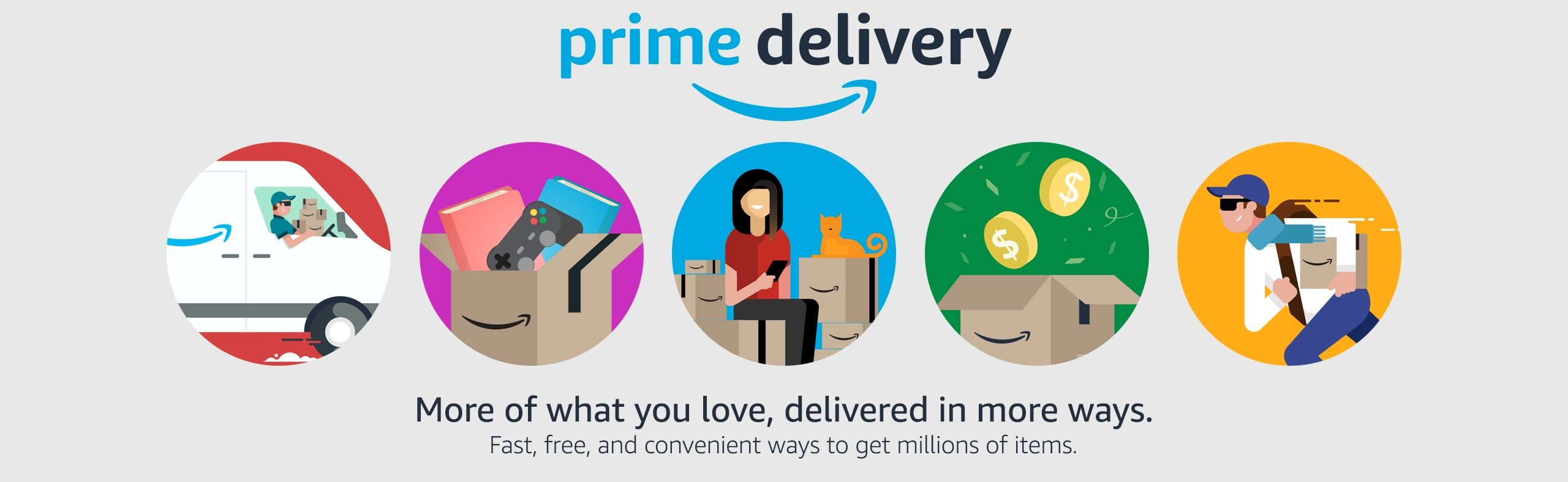 Prime Delivery. More of What You love, Delivered in More ways.