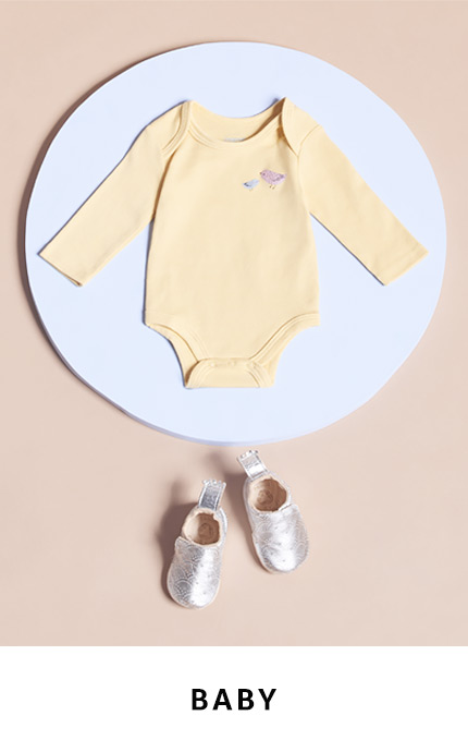 Shop baby clothing, shoes and accessories
