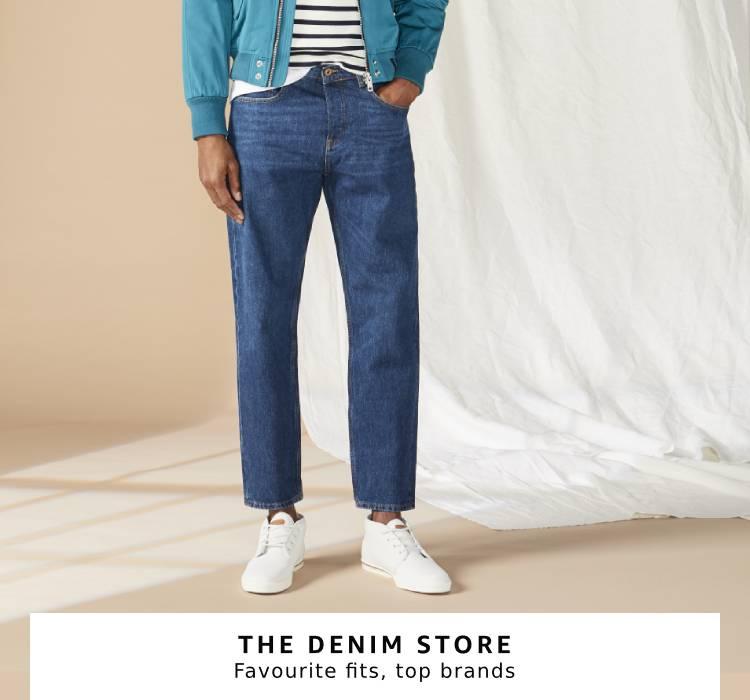 Shop jeans and denim for men