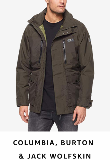 Columbia, Burton and Jack Wolfskin