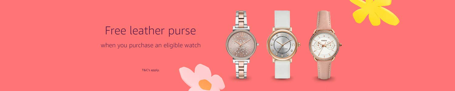 Free Fossil Aubrey purse when you purchase an elible watch