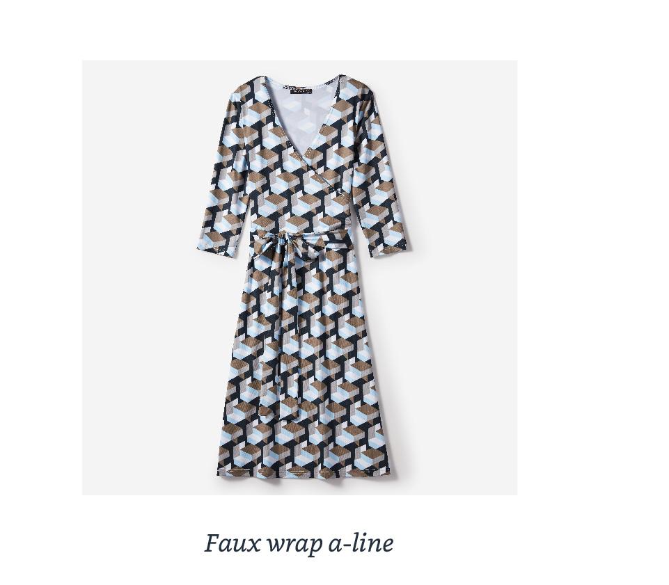 Faux wrap a-line