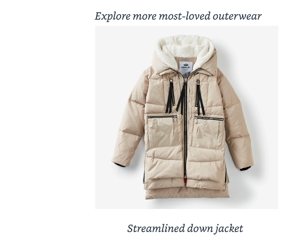 Streamlined down jacket