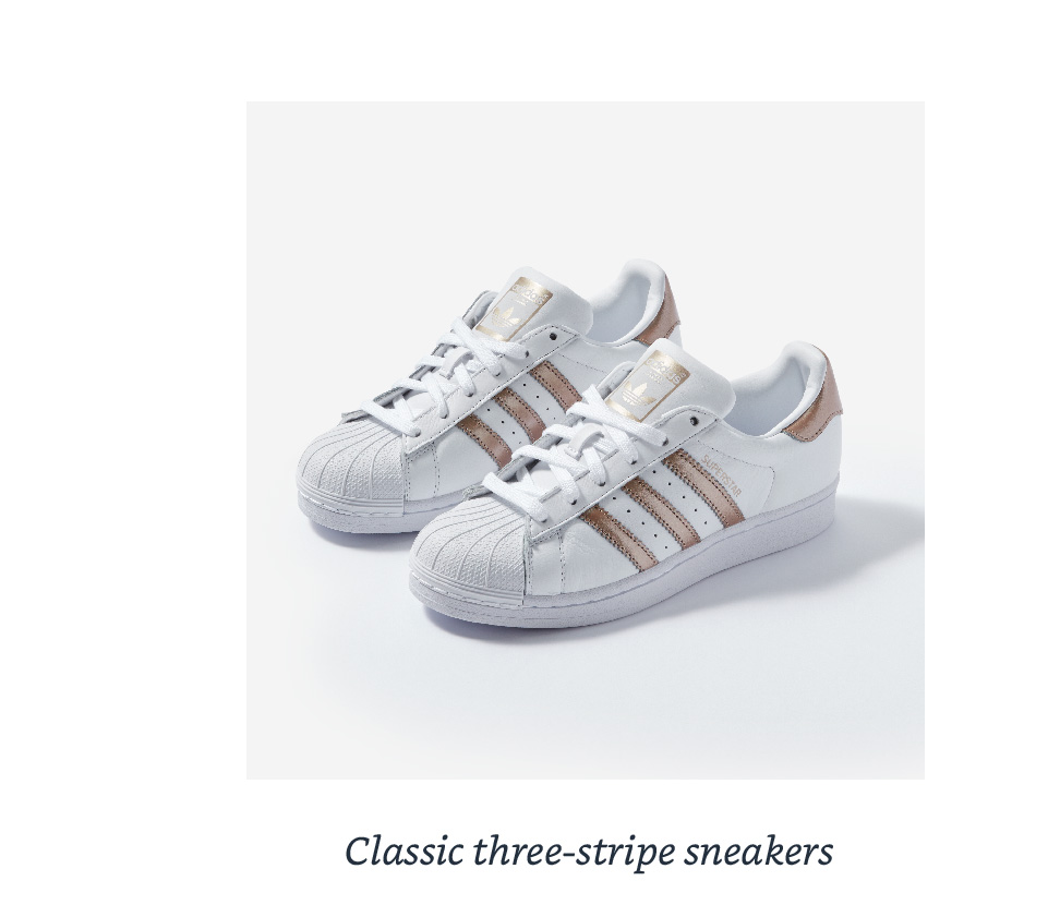 Classic three-stripe sneakers