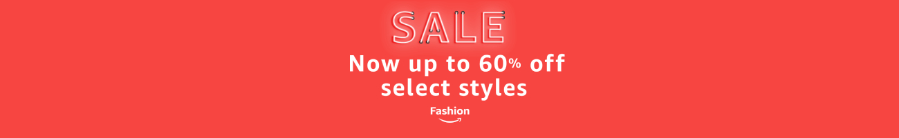 Up to 60% off select fashion