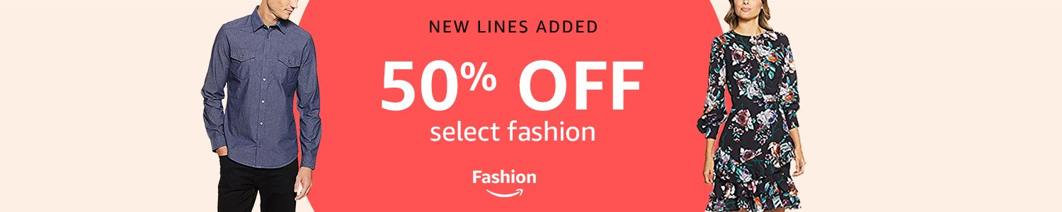 50% off Fashion