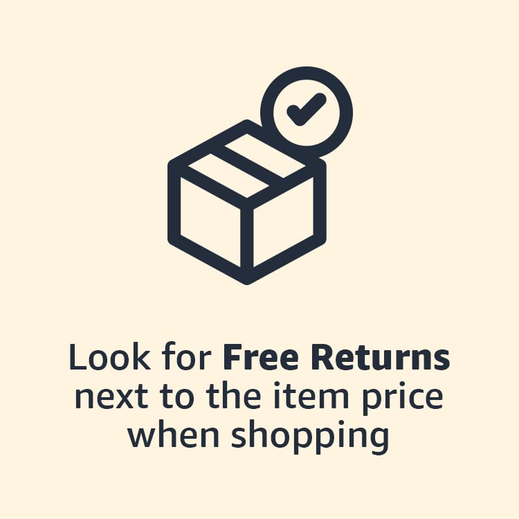 Look for Free Returns next to the item price when shopping