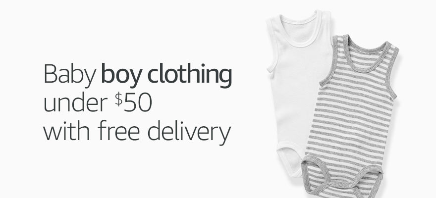 Baby boy clothing under $50 and free delivery