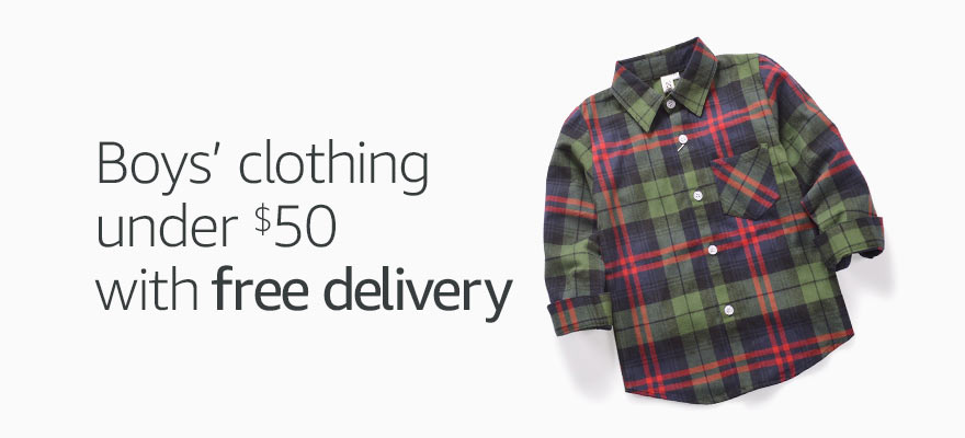 Boys' clothing under $50 and free delivery