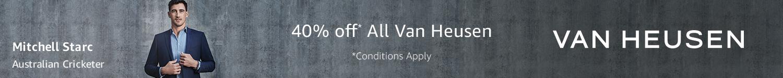 40% off Van Heusen