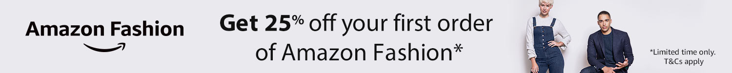 25% off your first order of Amazon fashion
