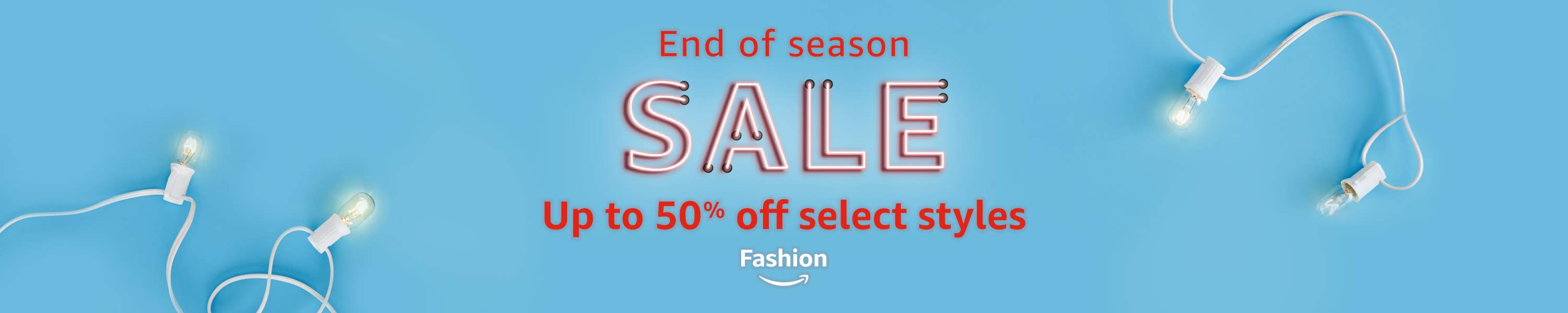 up to 50% off select fashion