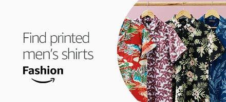 men's short sleeved print shirts