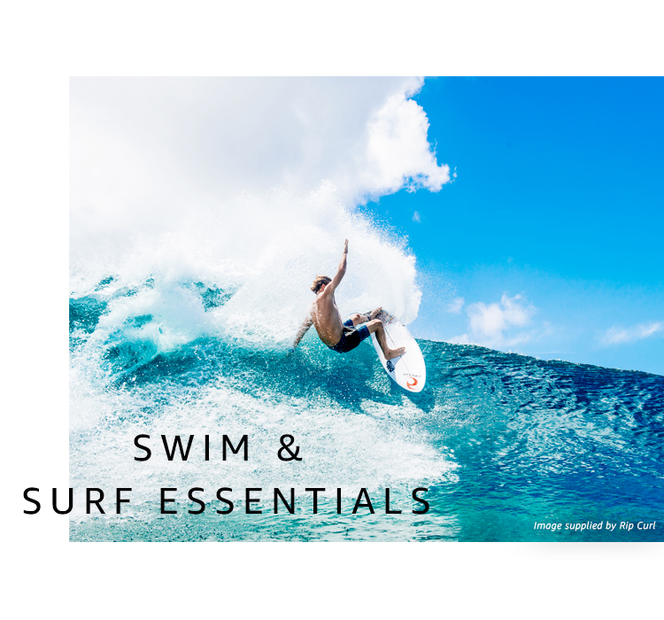 Men's surf and swim clothing