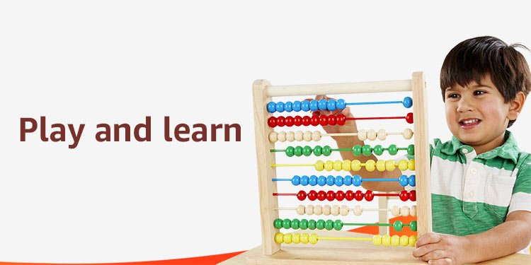 Play and learn with educational toys
