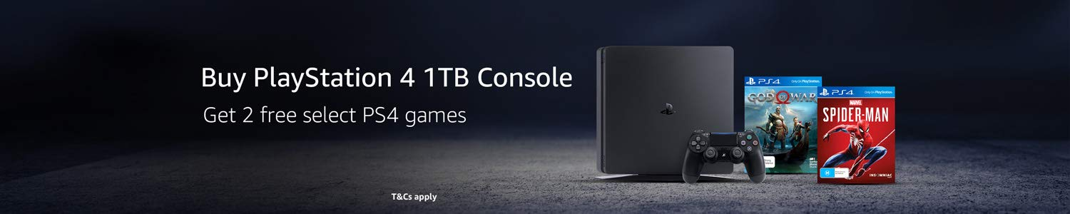 Buy  PlayStaion 4 1TB console, get 2 free select PS4 games