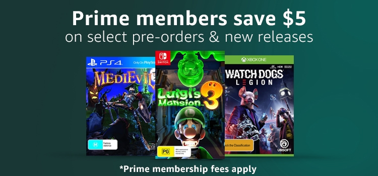 Prime members save $5 on select pre-orders and new releases