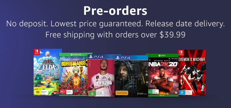 Pre-orders: No deposit. Lowest price guaranteed. Release delivery date.