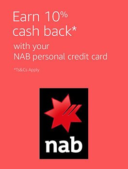 Earn 10% cash back with your NAB personal credit card