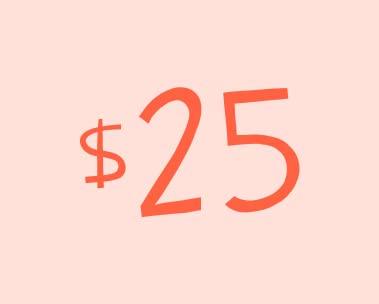 Deals under $25
