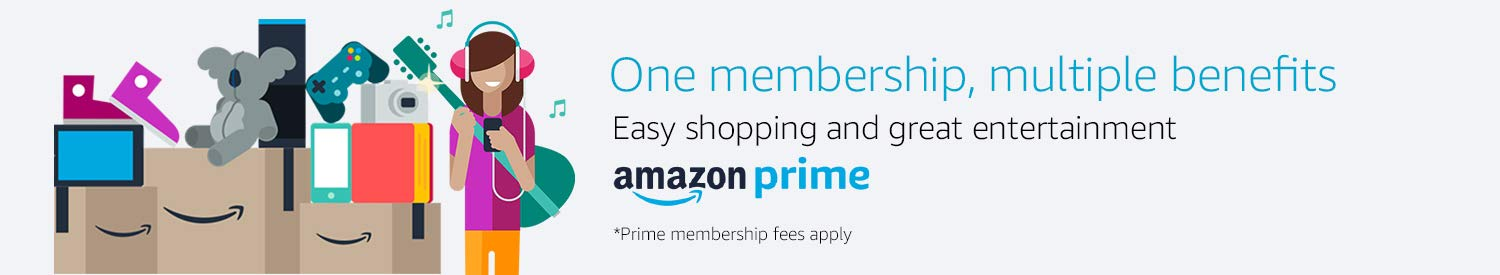 One membership, multiple benefits. Amazon Prime.