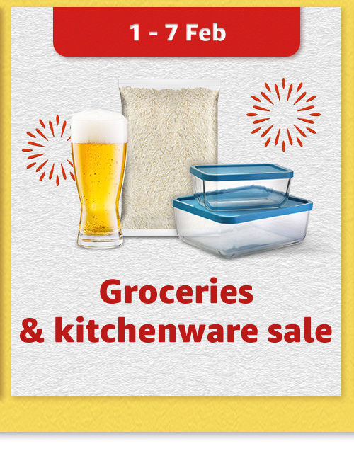 Groceries & kitchenware sale