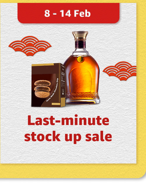 Last-minute stock up sale