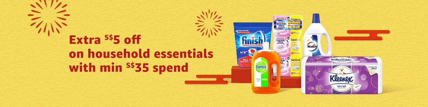 Extra S$5 on household essentials with min S$35 spend