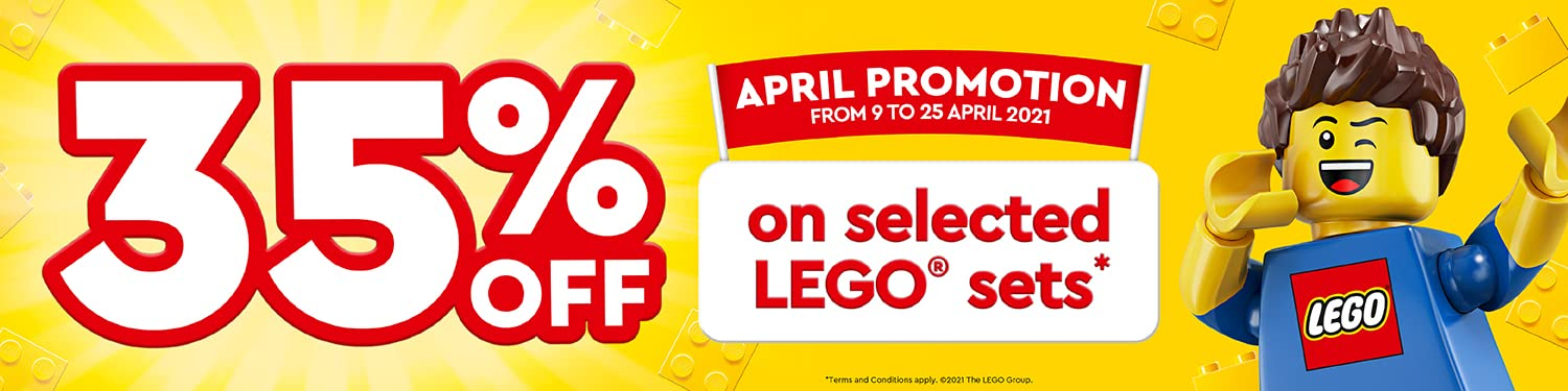 35% OFF on selected LEGO sets