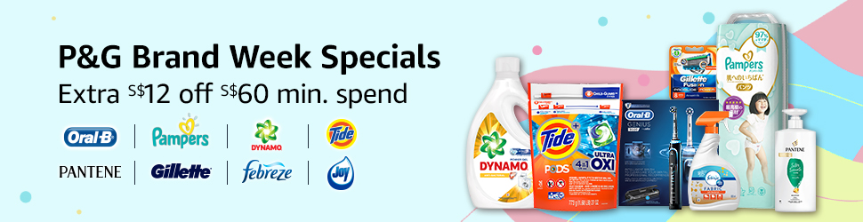S$12 off S$60 spend on Pampers, Tide, Oral-B and more