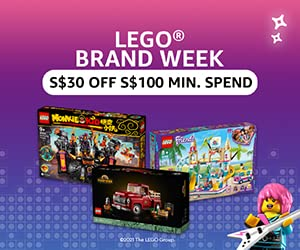 S$30 Off S$100 min. spend on Lego