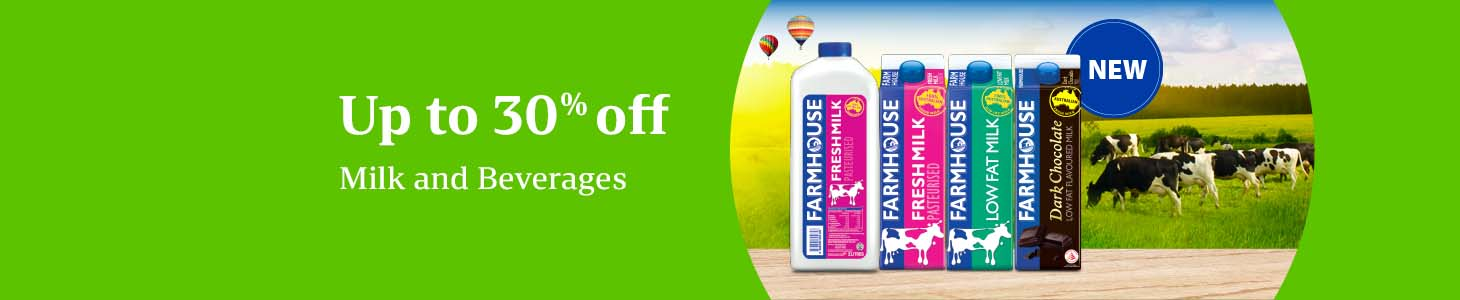 Up to 30% off Farmhouse, 100 Plus, Ice Mountain and more