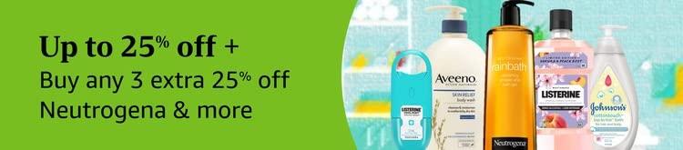 Up to 25% off + Buy Any 3 Save Extra 25% on Listerine, Neutrogena, Aveeno & more
