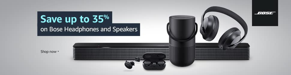 Save up to 35% on Bose Headphones & Speakers