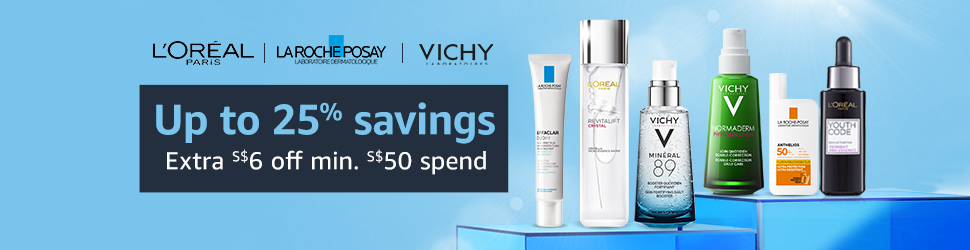 Up to 25% savings with L'Oreal, La Roche Porsay and Vichy