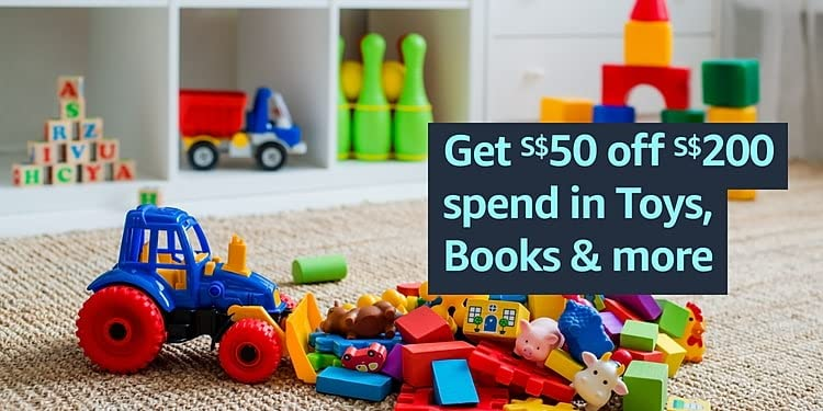 S$50 off S$200 spend in Toys, Books, Home & more