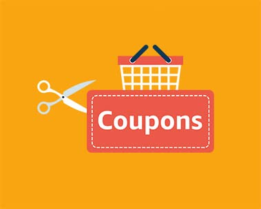 Greater discounts w Coupons