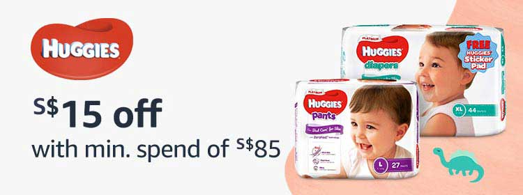 Huggies - $15 off with min.spend of $85