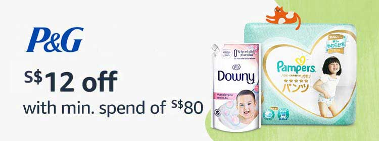 P&G - $12 off with min.spend of $80