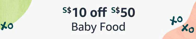 $10 off $50 Baby Food