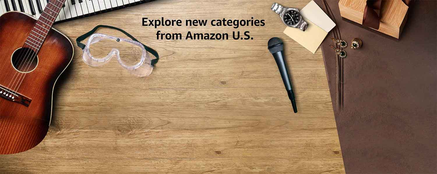 Explore new categories from Amazon US