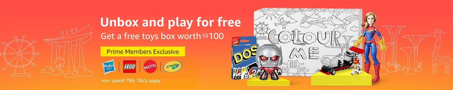 Get a free toys box worth $100