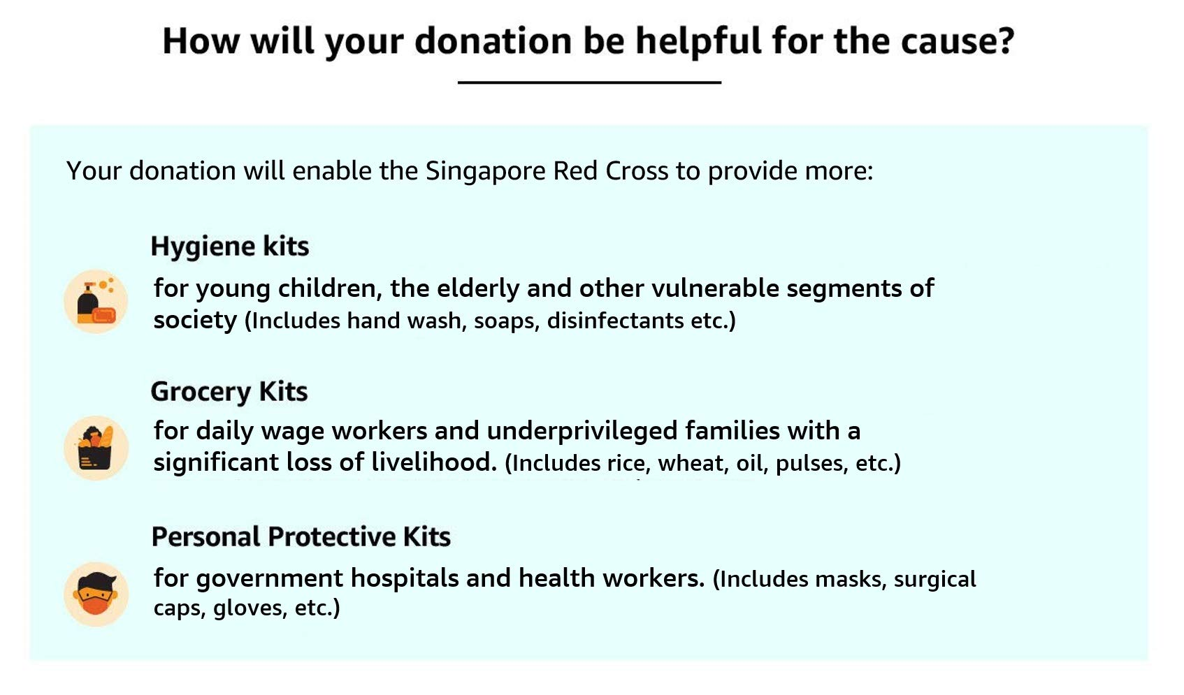 How will your donation be helpful for a cause?