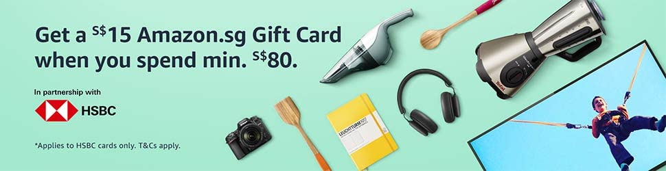 Get a S$15 Amazon.sg Gift Card with min. S$80 spend with HSBC