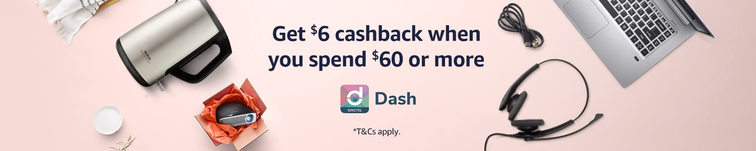 Get a S$6 cashback with S$60 or more