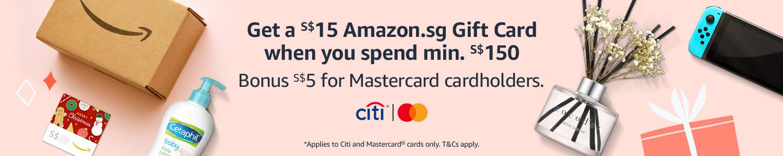 Amazon.sg Citi Mastercard promo Dec 2020