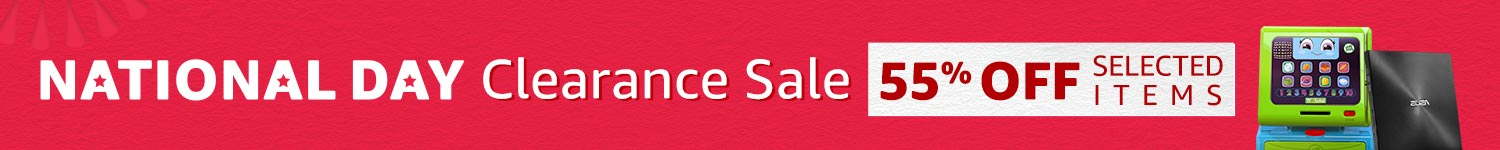 National Day Clearance Sale 55% off selected items